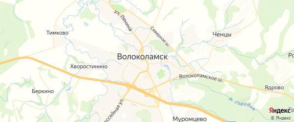 Карта Волоколамска с районами, улицами и номерами домов