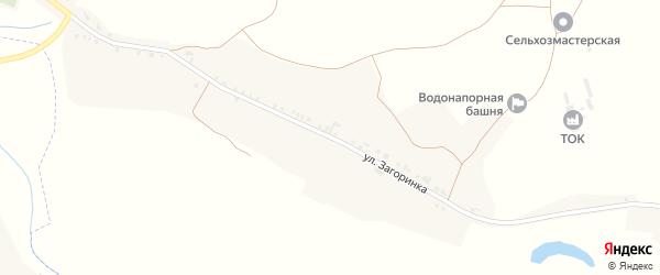 Улица Загоринка на карте села Драгунки с номерами домов