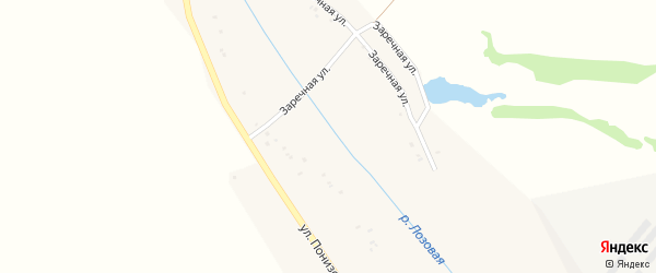 Березовская улица на карте Грузского села с номерами домов