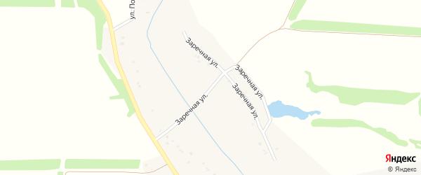 Заречная улица на карте Грузского села с номерами домов
