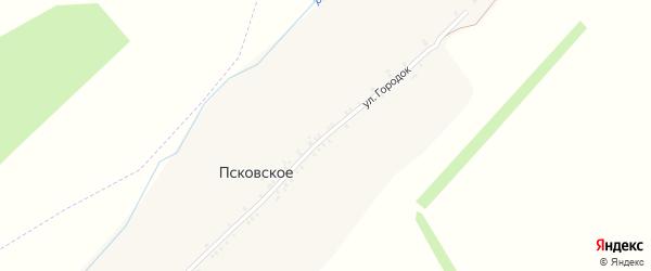 Улица Городок на карте Псковского села с номерами домов