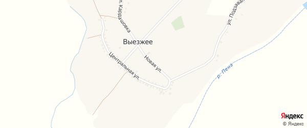 Новая улица на карте Выезжего села с номерами домов
