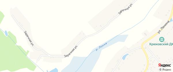 Заречная улица на карте села Крюково с номерами домов