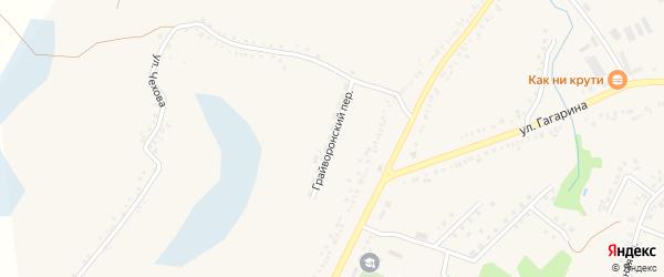 Грайворонский переулок на карте поселка Борисовки с номерами домов
