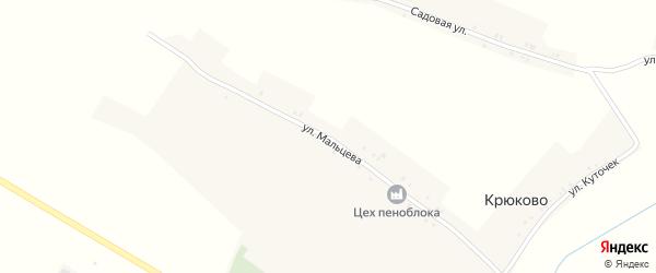 Улица Мальцева на карте села Крюково с номерами домов