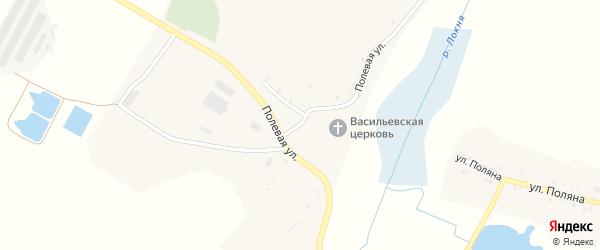Полевая улица на карте села Чуланово с номерами домов