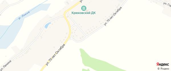 Улица 70 лет Октября на карте села Крюково с номерами домов