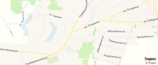 Карта хутора Станового в Белгородской области с улицами и номерами домов
