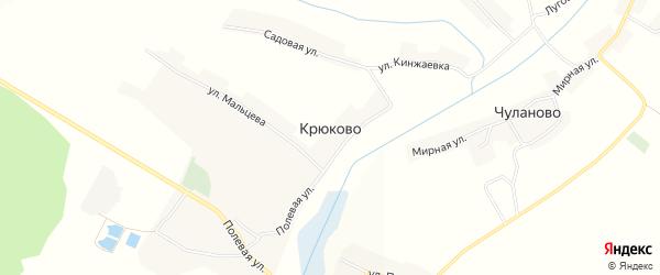 Карта села Крюково в Белгородской области с улицами и номерами домов
