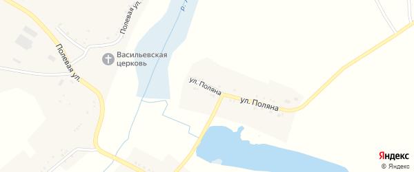 Улица Поляна на карте села Крюково с номерами домов