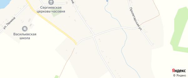 Улица Ленина на карте села Васильевки с номерами домов