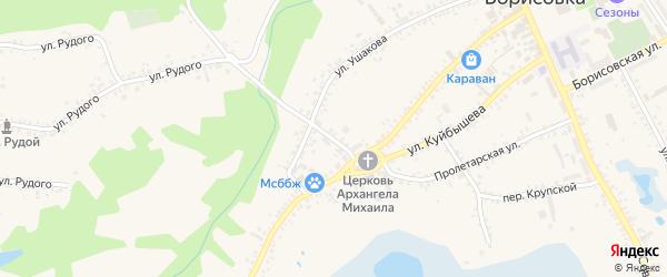 Переулок Дегтярева на карте поселка Борисовки с номерами домов