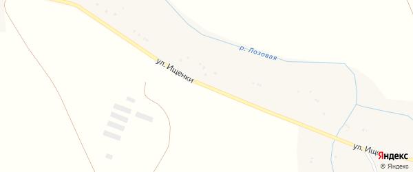 Улица Ищенки на карте Грузского села с номерами домов