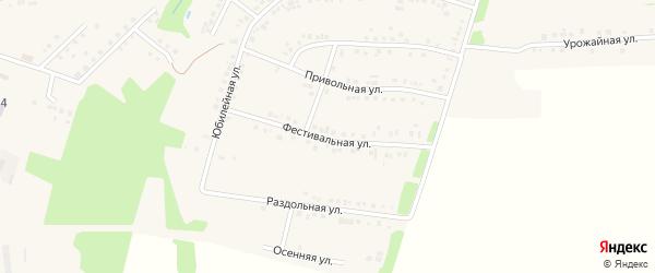 Фестивальная улица на карте поселка Борисовки с номерами домов
