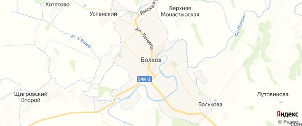 Карта Болхова с районами, улицами и номерами домов