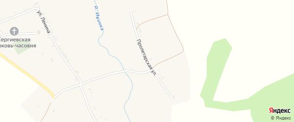 Пролетарская улица на карте села Васильевки с номерами домов