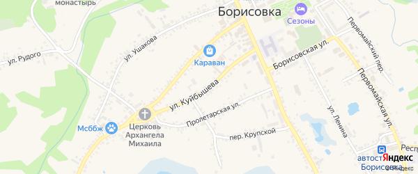Улица Куйбышева на карте поселка Борисовки с номерами домов