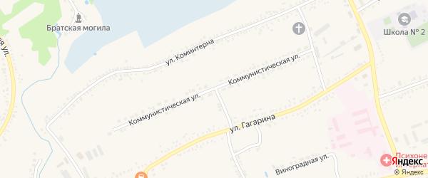 Коммунистическая улица на карте поселка Борисовки с номерами домов
