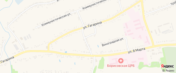 Переулок Барвинского на карте поселка Борисовки с номерами домов