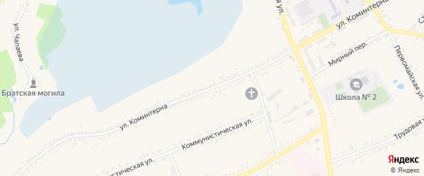 Улица Коминтерна на карте поселка Борисовки с номерами домов