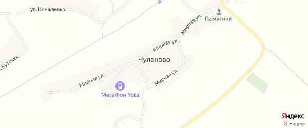 Улица Кинжаевка на карте села Чуланово с номерами домов