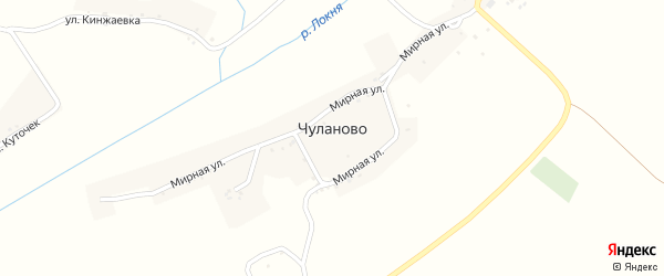 Улица Курноскина на карте села Чуланово с номерами домов