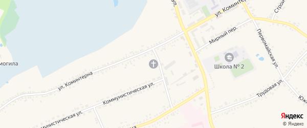 Красивский микрорайон на карте поселка Борисовки с номерами домов