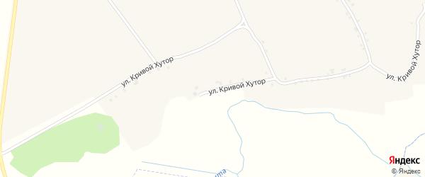 Улица Кривой Хутор на карте села Вышние Пены с номерами домов