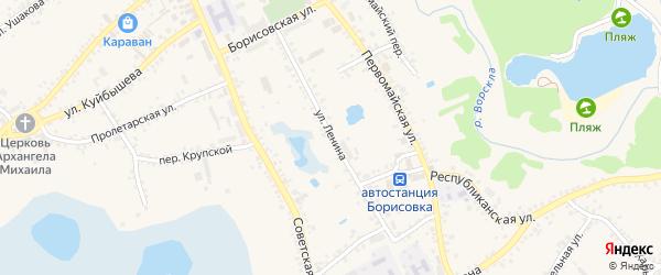 Улица Ленина на карте поселка Борисовки с номерами домов