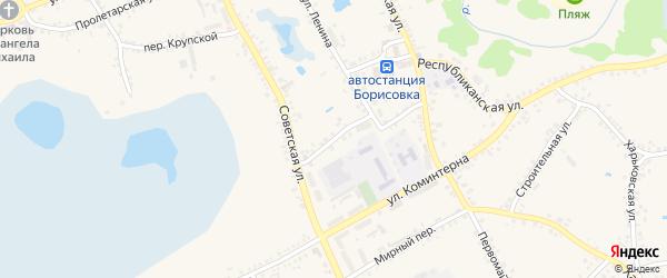 Октябрьский переулок на карте поселка Борисовки с номерами домов