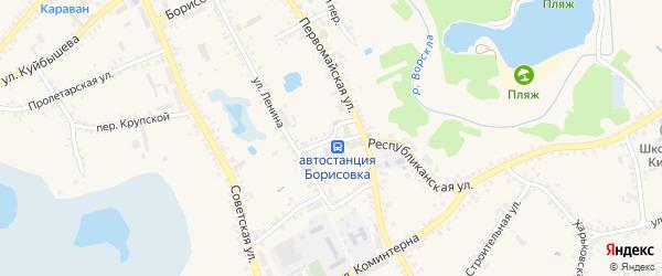 Ленинский переулок на карте поселка Борисовки с номерами домов