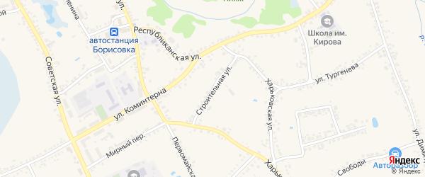 Строительная улица на карте поселка Борисовки с номерами домов