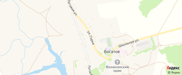 Улица Горка на карте Богатого села с номерами домов
