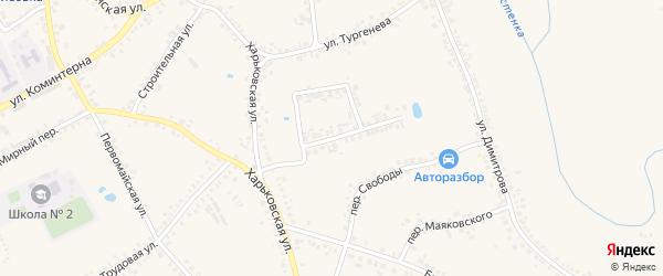 Терновая улица на карте поселка Борисовки с номерами домов