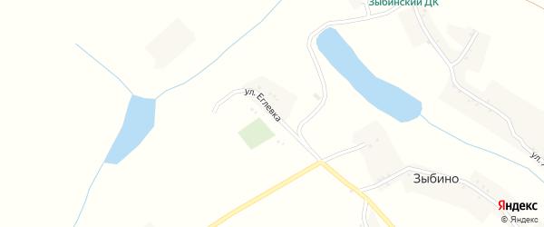 Улица Еглевка на карте села Зыбино с номерами домов