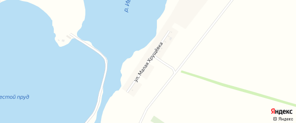 Улица Малая Хрущевка на карте села Александровки с номерами домов