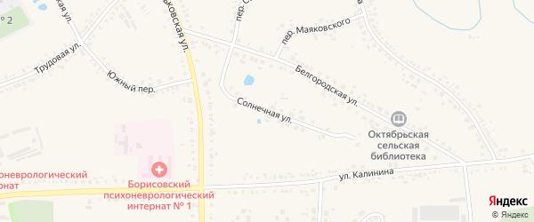 Солнечная улица на карте поселка Борисовки с номерами домов