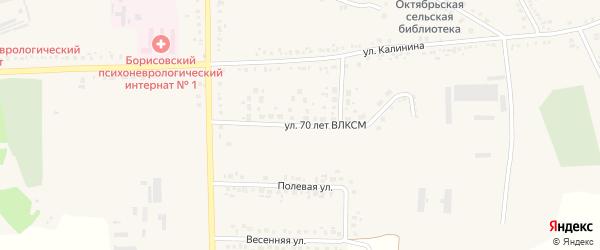 Улица 70 лет ВЛКСМ на карте поселка Борисовки с номерами домов