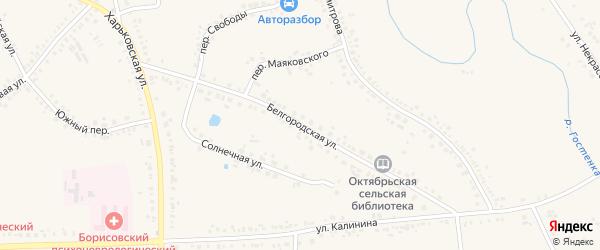Белгородская улица на карте поселка Борисовки с номерами домов