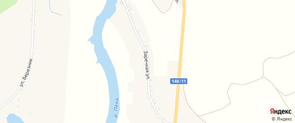 Заречная улица на карте села Новоселовки Второй с номерами домов