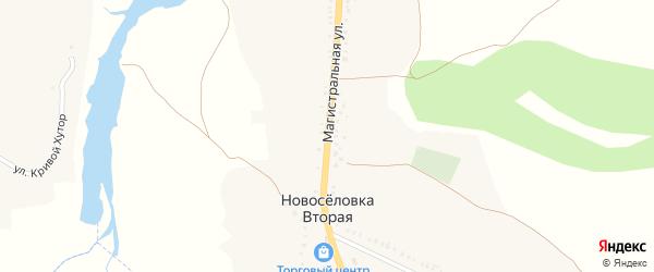 Магистральная улица на карте села Новоселовки Второй с номерами домов