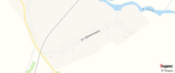 Улица Щемиловка на карте села Венгеровки с номерами домов