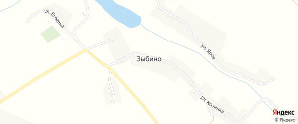 Улица Выгон на карте села Зыбино с номерами домов