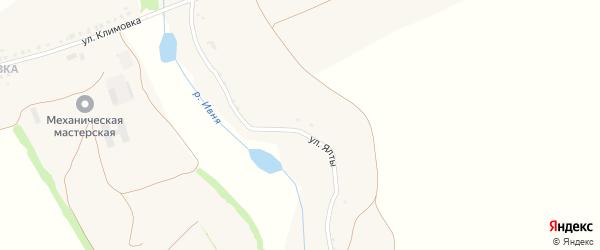 Улица Ялты на карте села Череново с номерами домов