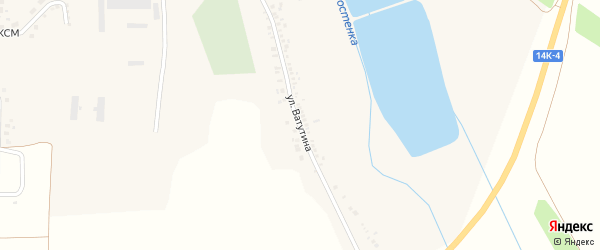 Улица Ватутина на карте поселка Борисовки с номерами домов