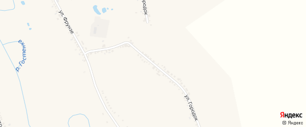 Улица Городок на карте поселка Борисовки с номерами домов