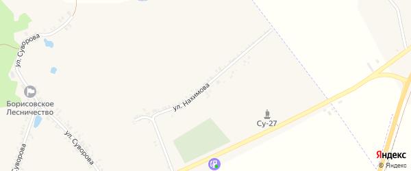 Улица Нахимова на карте поселка Борисовки с номерами домов