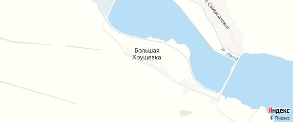 Карта хутора Большей Хрущевки в Белгородской области с улицами и номерами домов