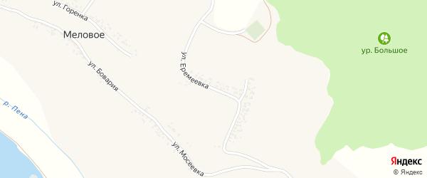 Улица Еремеевка на карте Мелового села с номерами домов