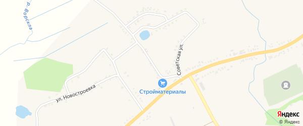 Советская улица на карте села Стригуны с номерами домов